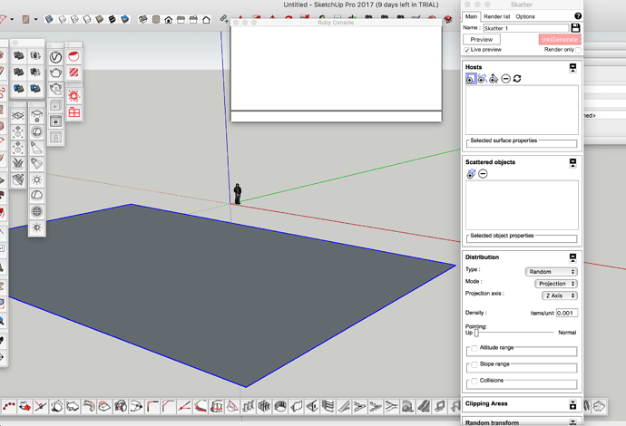 Skatter + SketchUp 2017 + Vray 3 not working - Bug reports